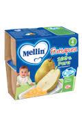 MELLIN® FRUTTAPURA 100% PERA DAL QUARTO MESE 4 x 100 G