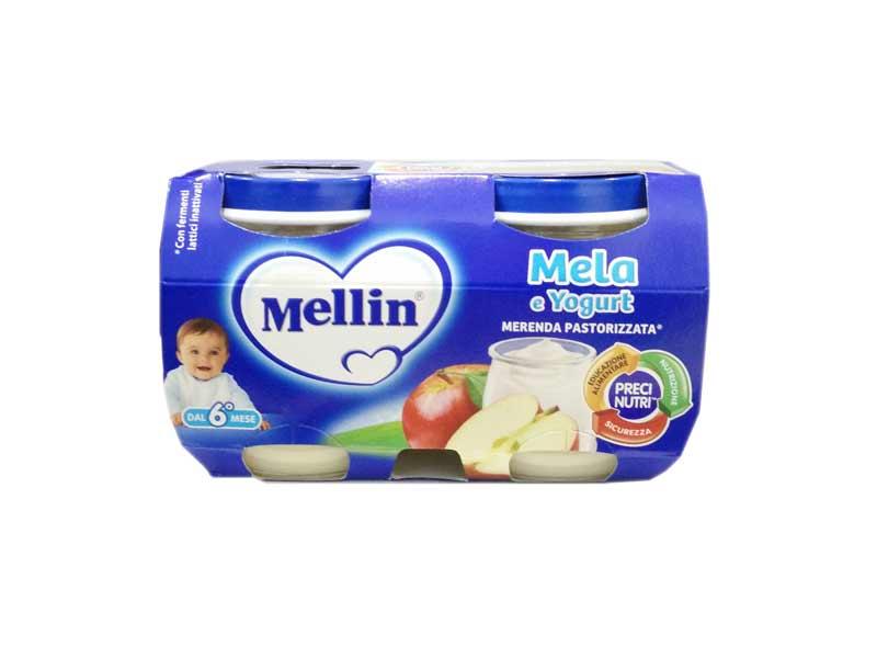 MELLIN® MERENDA MELA E YOGURT DAL SESTO MESE 2 x 120 G