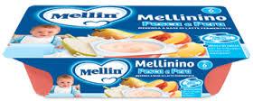 MELLIN® MERENDA MELLININO ALLA PESCA E PERA DAL SESTO MESE 6 x 60 G