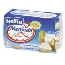 MELLIN® MERENDA PERA E YOGURT DAL QUINTO MESE 2 x 120 G