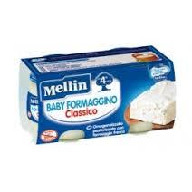 MELLIN OMOGENEIZZATO BABY FORMAGGINO CLASSICO DAL QUARTO MESE 2 x 80 G