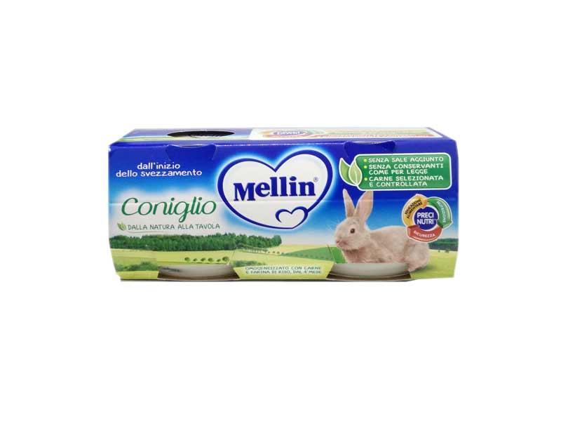 MELLIN® OMOGENEIZZATO CONIGLIO DAL QUARTO MESE COMPIUTO 2 x 80 G