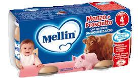 MELLIN® OMOGENEIZZATO MANZO E PROSCIUTTO CON VERDURE DAL QUARTO MESE 2 x 80 G