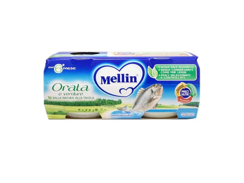 MELLIN OMOGENEIZZATO ORATA CON VERDURE DAL SESTO MESE 2 x 80 G
