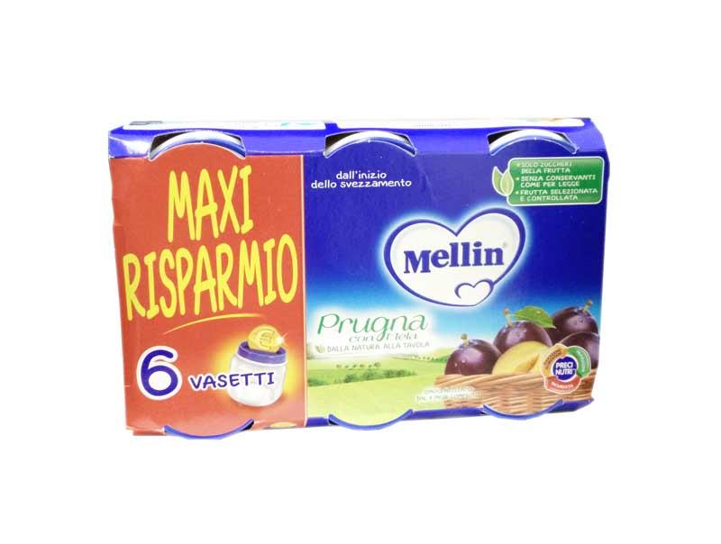MELLIN® OMOGENEIZZATO PRUGNA CON MELA DAL QUARTO MESE COMPIUTO 6 x 100 G MAXI RISPARMIO