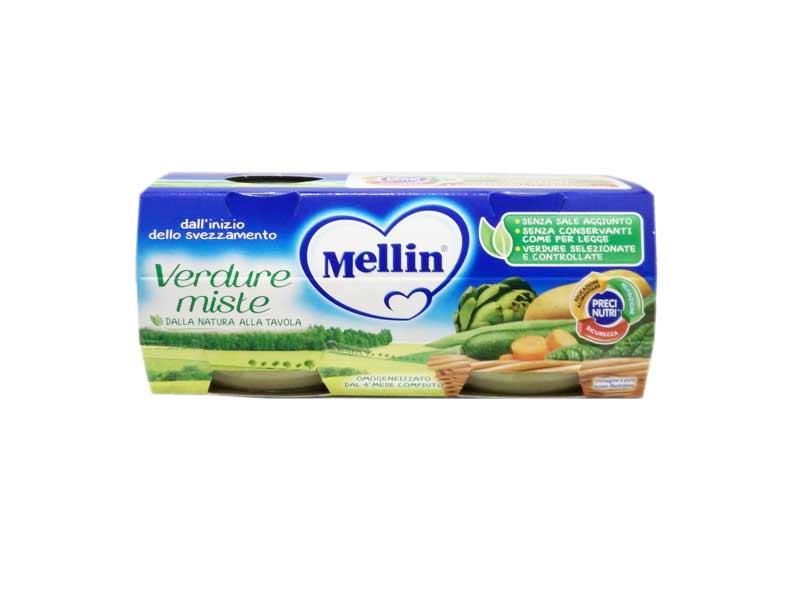 MELLIN® OMOGENEIZZATO VERDURE MISTE DAL QUARTO MESE COMPIUTO 2 x 80 G