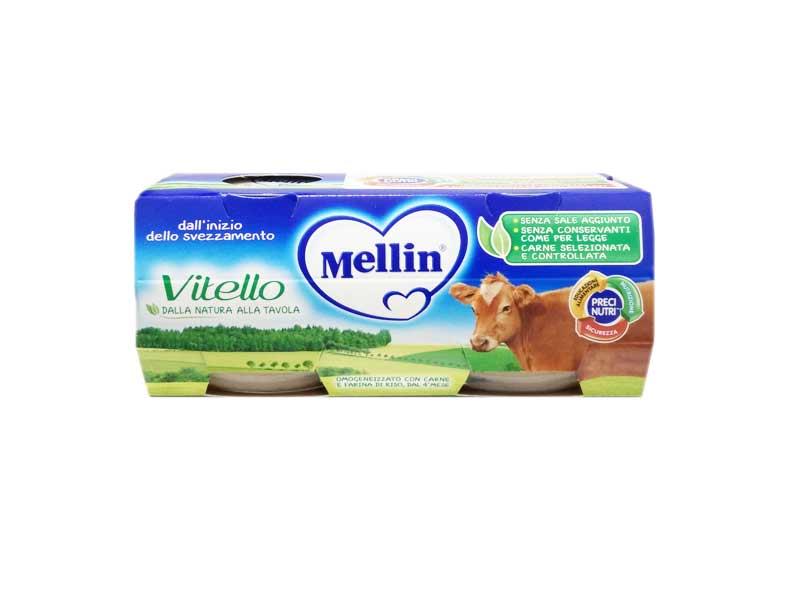 MELLIN OMOGENEIZZATO VITELLO DAL QUARTO MESE COMPIUTO 2 x 80 G