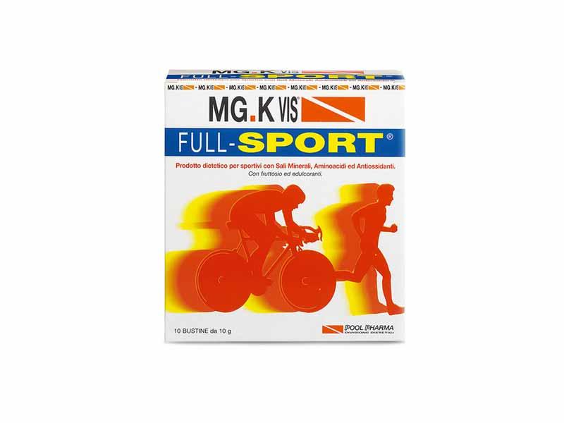 MGK VIS FULL-SPORT INTEGRATORE ISOTONICO ENERGETICO GUSTO ARANCIA - 10 BUSTINE DA 10 G