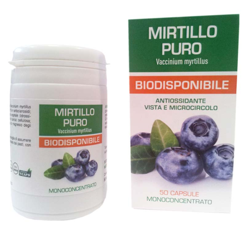 MIRTILLO PURO BIODISPONIBILE 50 CAPSULE DA 500 MG