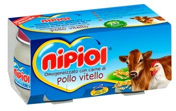 NIPIOL OMOGENEIZZATO POLLO VITELLO - DA 4 MESI - 2 x 80 G