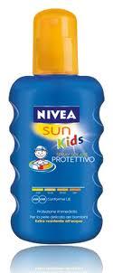 NIVEA SUN BAMBINI LATTE SPRAY SOLARE COLORATO PROTETTIVO FP20 PROTEZIONE MEDIA 200 ML