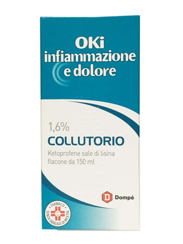 OKI INFIAMMAZIONE E DOLORE 1,6% COLLUTORIO 150 ML