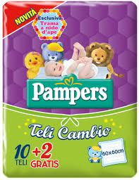 PAMPERS TELI CAMBIO 60 x 60 CM - 12 PEZZI