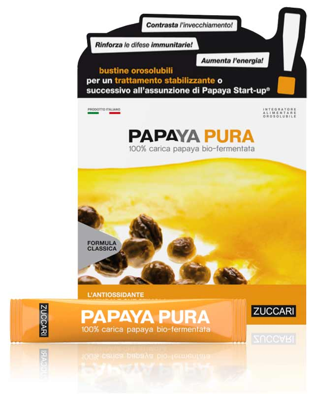 PAPAYA PURA ZUCCARI 45 STICK PACK DA 3 G