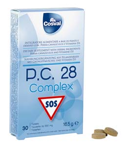 P.C. 28 complex 30 tavolette da 550mg - Cosval