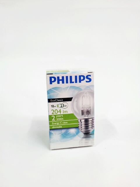 PHILIPS LAMPADINA ECOCLASSIC GLOBO - 18W E27 ES 230V P45 CLEAR