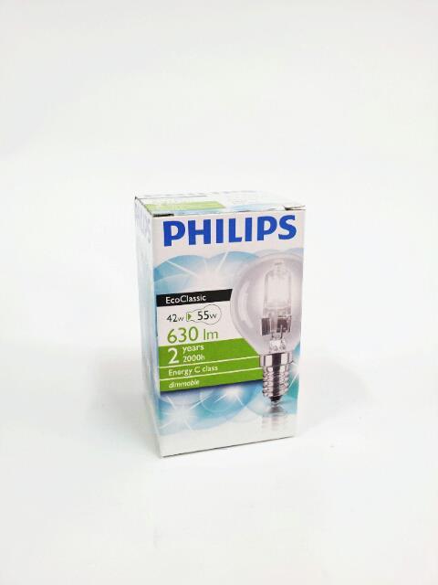 PHILIPS LAMPADINA ECOCLASSIC GLOBO - 42W E14 SES 230V P45 CLEAR