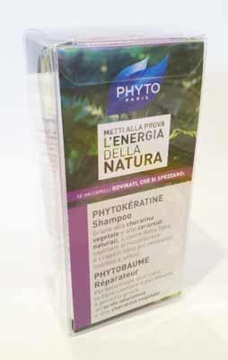 PHYTO - PHYTOKERATINE SHAMPOO 50 ML + PHYTOBAUME REPARATEUR 50 ML