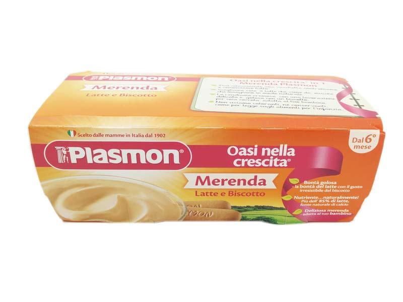 PLASMON MERENDA LATTE E BISCOTTO DA 6 A 36 MESI 2x120 G