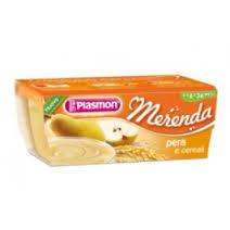 PLASMON MERENDA PERA E CEREALI - DA 6 A 36 MESI - 2 x 120 G