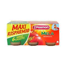 PLASMON OMOGENEIZZATO MELA - DAL QUARTO MESE - 6 x 104 G - MAXI RISPARMIO