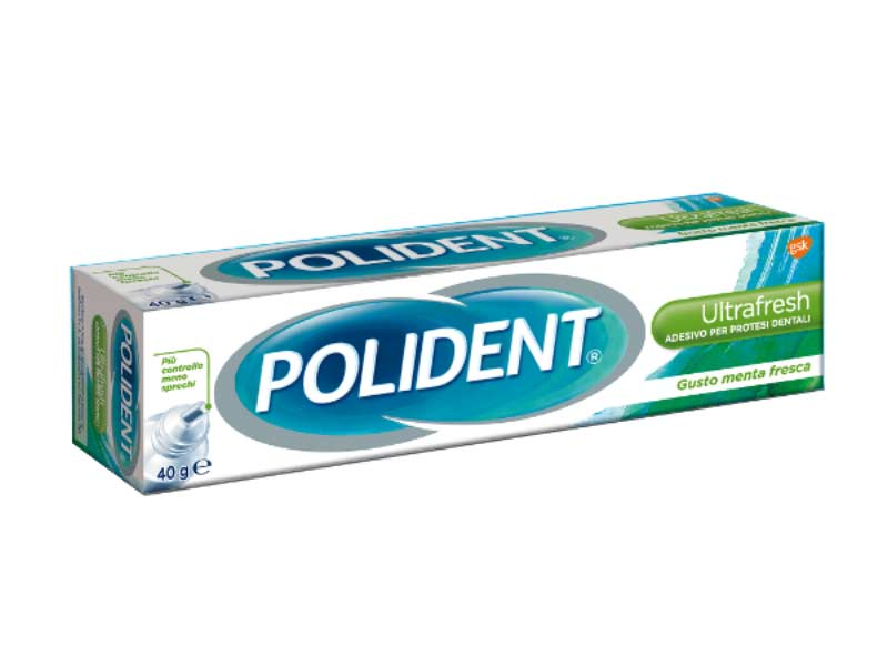 POLIDENT® ADESIVO PER DENTIERE ULTRA FRESH 40 GR