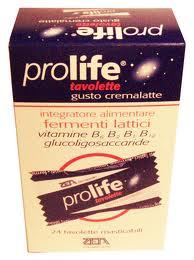 Prolife 24 Tavolette gusto Cremalatte Fermenti Lattici Vivi