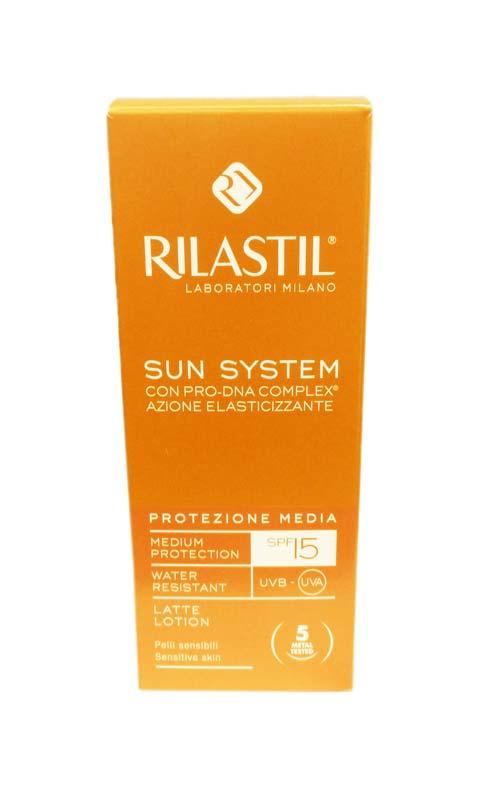 RILASTIL® SUN SYSTEM LATTE SOLARE SPF 15 PROTEZIONE MEDIA 100 ML