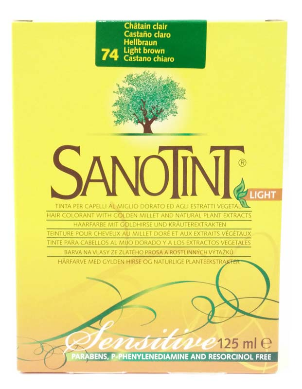SANOTINT® LIGHT SENSITIVE COLORE N 74 CASTANO CHIARO 125 ML