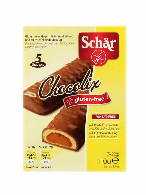 SCHAR DOLCI - CHOCOLIX BARRETTA DIETETICA SENZA GLUTINE - 5 x 22 G
