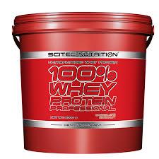 SCITEC NUTRITION 100x100 WHEY PROTEIN PROFESSIONAL - PROTEINE DA SIERO DI LATTE GUSTO BANANA - 5000 G