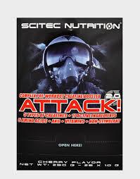 SCITEC NUTRITION ATTACK 2.0 - PROMOTORE COMPLESSO PRE WORKOUT GUSTO CHERRY - 25 BUSTINE DA 10 G