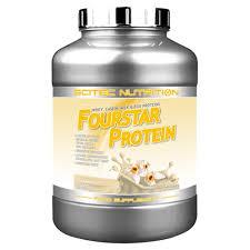 SCITEC NUTRITION FOURSTAR PROTEIN - PROTEINE DI SIERO DEL LATTE, CASEINA, LATTE E UOVO - GUSTO VANIGLIA FRANCESE - 2000 G