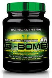 SCITEC NUTRITION G-BOMB 2.0 - MISCELA DI GLUTAMMINA GUSTO LIMONE ROSA - 500 G