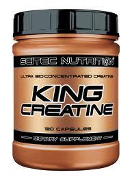 SCITEC NUTRITION KING CREATINE - CREATINA ULTRA BIOLOGICA E CONCENTRATA - 120 CAPSULE