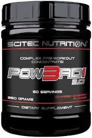 SCITEC NUTRITION POW3RD 2.0 - CONCENTRATO COMPLESSO PRE WORKOUT GUSTO CILIEGIA STRAVAGANTE - 350 G