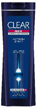SHAMPOO CLEAR ANTIFORFORA UOMO - ACTION 2 IN 1 - 250 ML