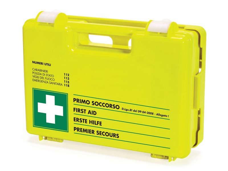 SICURMED FLUO 6603 CATEGORIA A B - VALIGETTA PRONTO SOCCORSO AZIENDALE - 3 O PIU' LAVORATORI