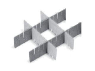 SISTEMA ORGANIZZATIVO A PETTINE - h 40 mm