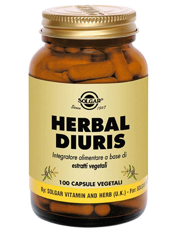 SOLGAR® HERBAL DIURIS 100 CAPSULE
