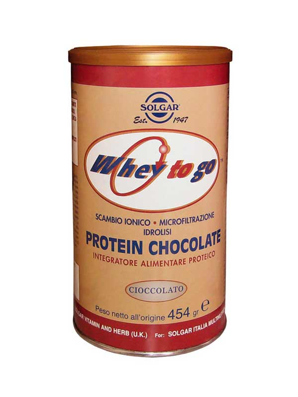 SOLGAR PROTEIN CHOCOLATE POLVERE 454 G