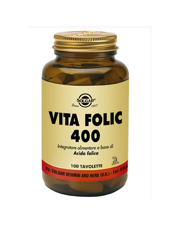 SOLGAR® VITA FOLIC 400 100 TAVOLETTE