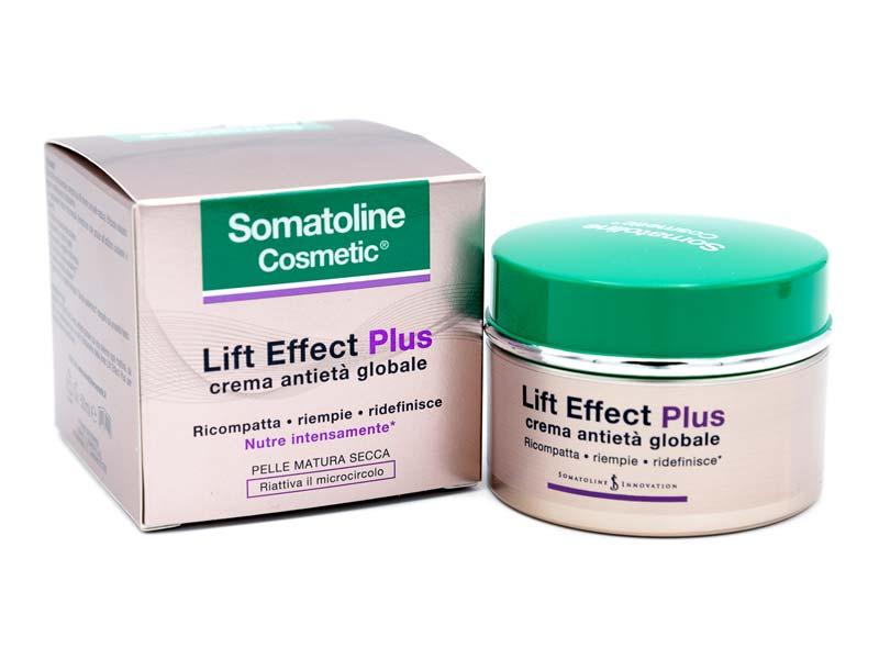 SOMATOLINE COSMETIC LIFT EFFECT PLUS CREMA ANTIETA GLOBALE GIORNO PELLE SECCA 50 ML