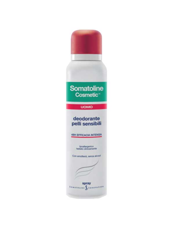 SOMATOLINE COSMETIC® UOMO DEODORANTE SPRAY PELLI SENSIBILI 150 ML