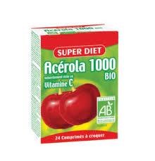 SUPER DIET ACEROLA 1000 INTEGRATORE ALIMENTARE PER STIMOLARE LE DIFESE IMMUNITARIE - 24 COMPRESSE