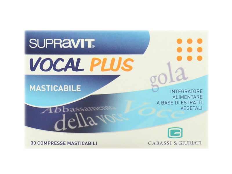 SUPRAVIT VOCAL PLUS INTEGRATORE PER IL BENESSERE DI GOLA E VOCE - 30 COMPRESSE