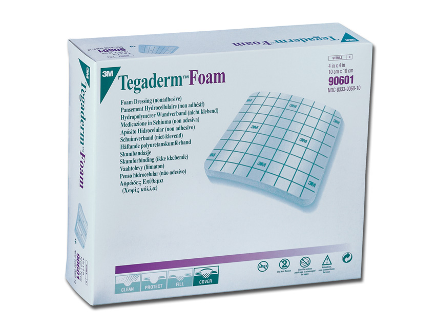 TEGADERM™ 3M FOAM - 10 x 10 cm - non adesivo