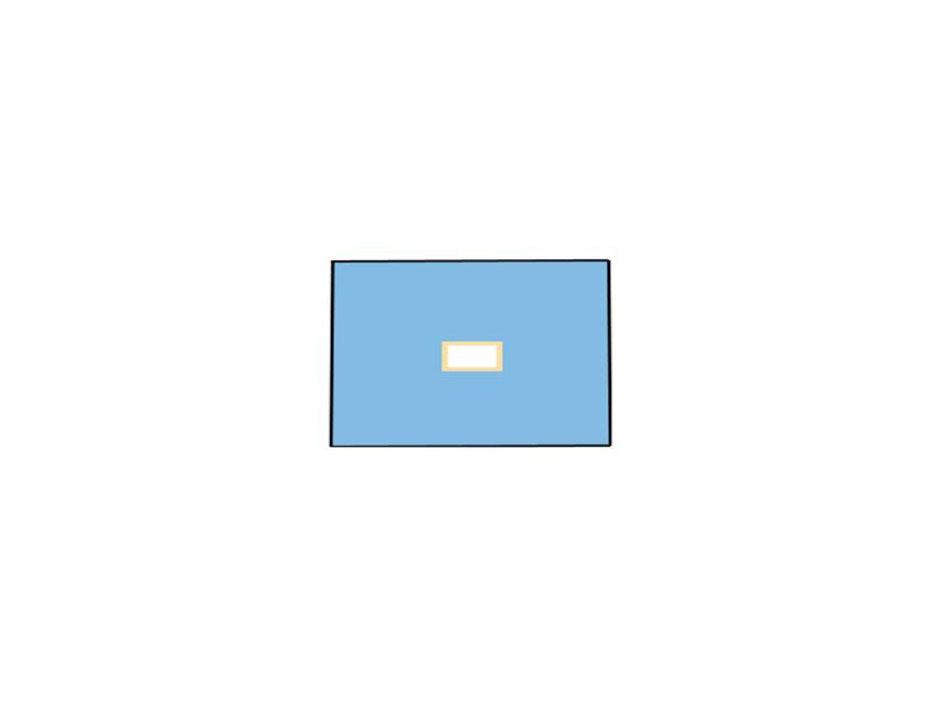 TELO CHIRURGICO - 50 x 75 cm - con foro 6 x 9 cm
