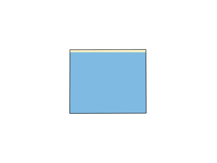 TELO CHIRURGICO - 75 x 90 cm - con lato adesivo