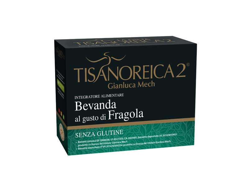 TISANOREICA 2 - BEVANDA AL GUSTO DI FRAGOLA - 4 BUSTE DA 27,5 G